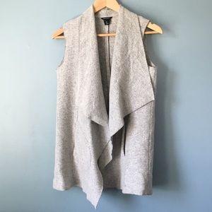 Club Monaco Gray Boiled Wool Vest